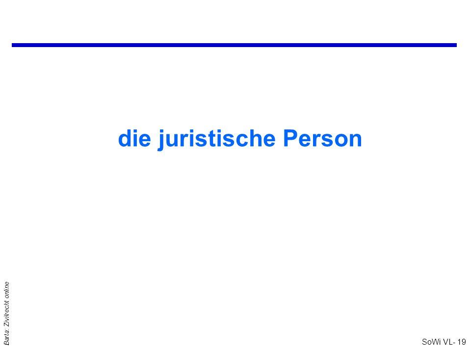 SoWi VL- 19 Barta: Zivilrecht online die juristische Person
