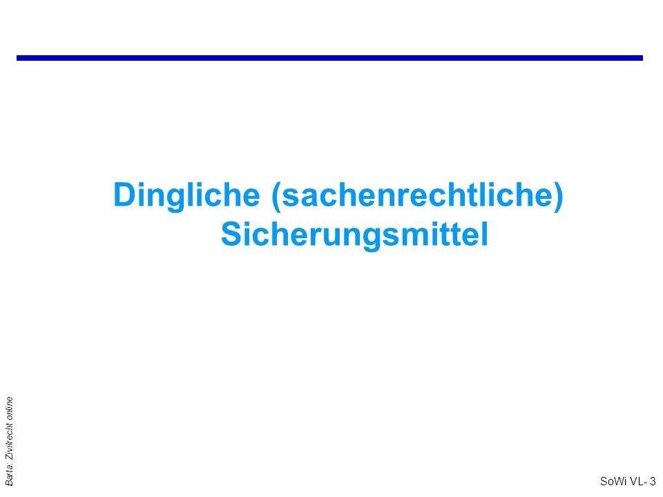 SoWi VL- 14 Barta: Zivilrecht online Reugeld – Storno: §§ 909 - 911 ABGB qReugeld = Entgelt für Einräumung eines vertraglichen (!) Rücktrittsrechts qReugeld wird statt (!) der V-Erfüllung entrichtet; Wahlrecht .