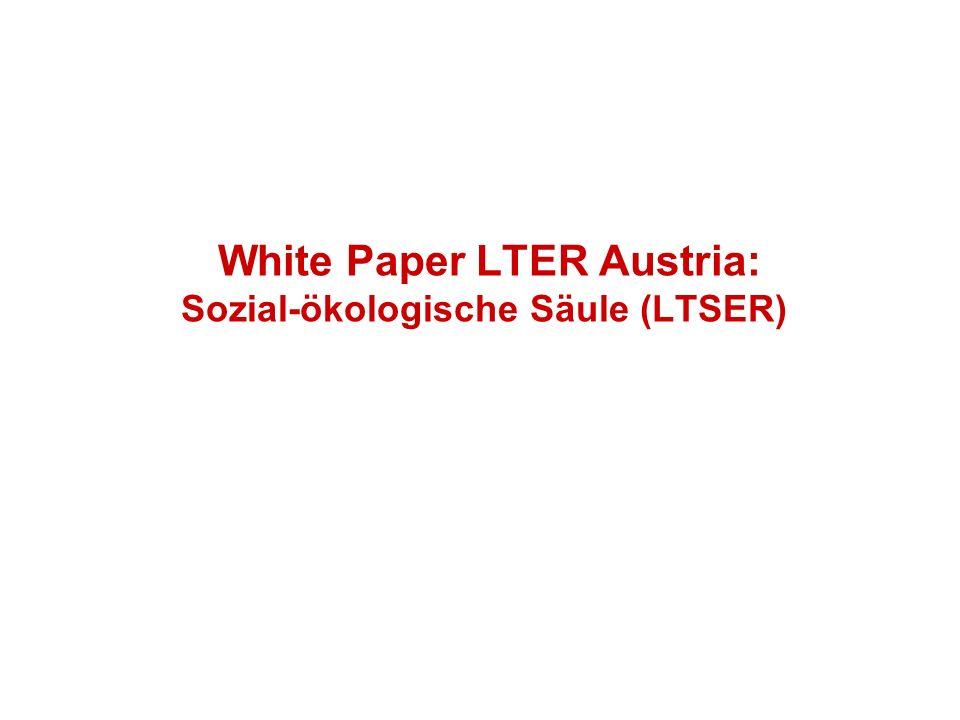 White Paper LTER Austria: Sozial-ökologische Säule (LTSER)