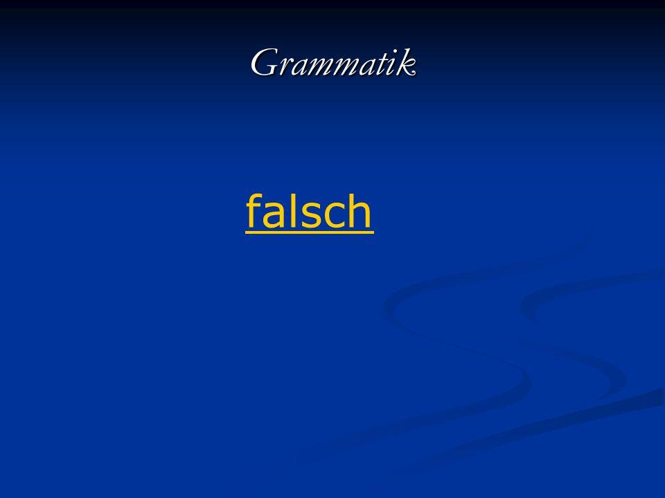 Grammatik falsch