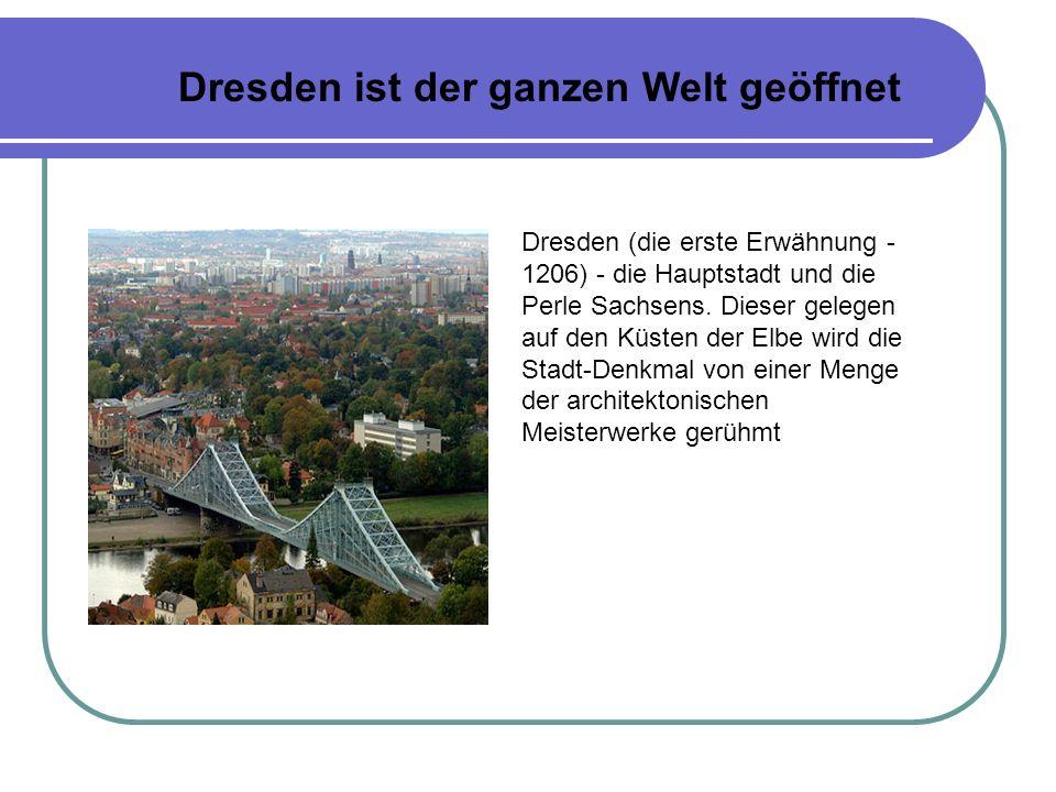 Im zentralen Teil der Stadt fünf Brücken verbinden die Altstadt (Altstadt), gelegen auf der linken Küste der Elbe, mit der Neuen Stadt (Neustadt) auf der rechten Küste.