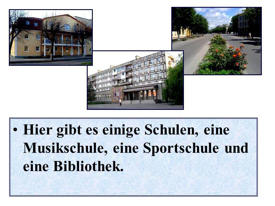 Hier gibt es einige Schulen, eine Musikschule, eine Sportschule und eine Bibliothek.