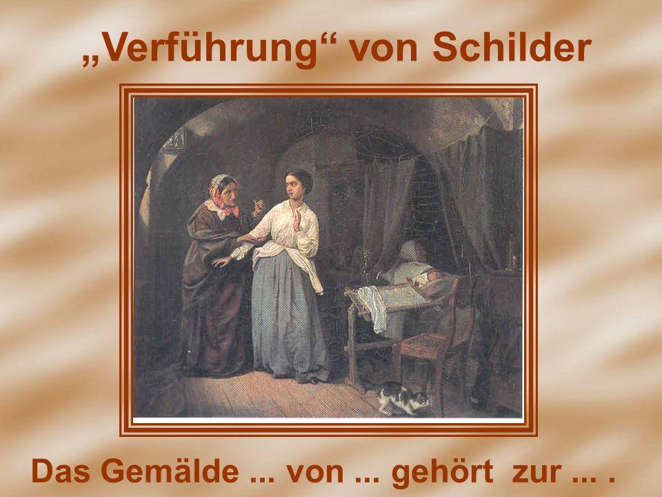 Verführung von Schilder Das Gemälde... von... gehört zur....