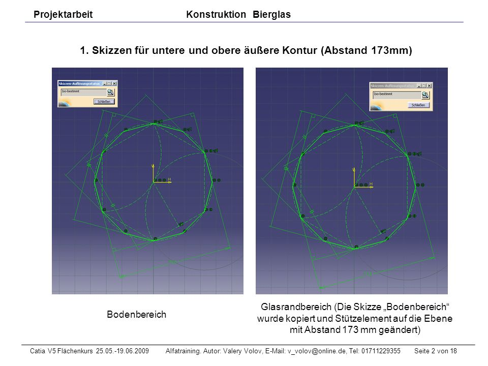 Seite 13 von 18Catia V5 Flächenkurs 25.05.-19.06.2009 Alfatraining.
