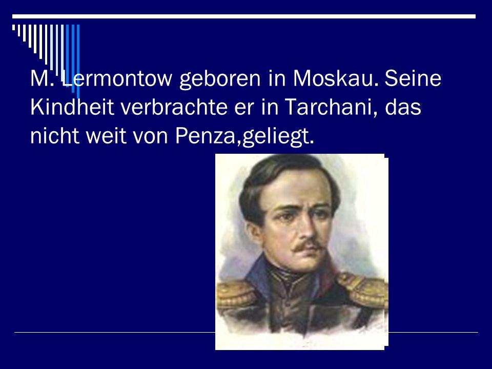 Einmal wanderte Goethe dűrch die Berge.Uberall war Ruhe.