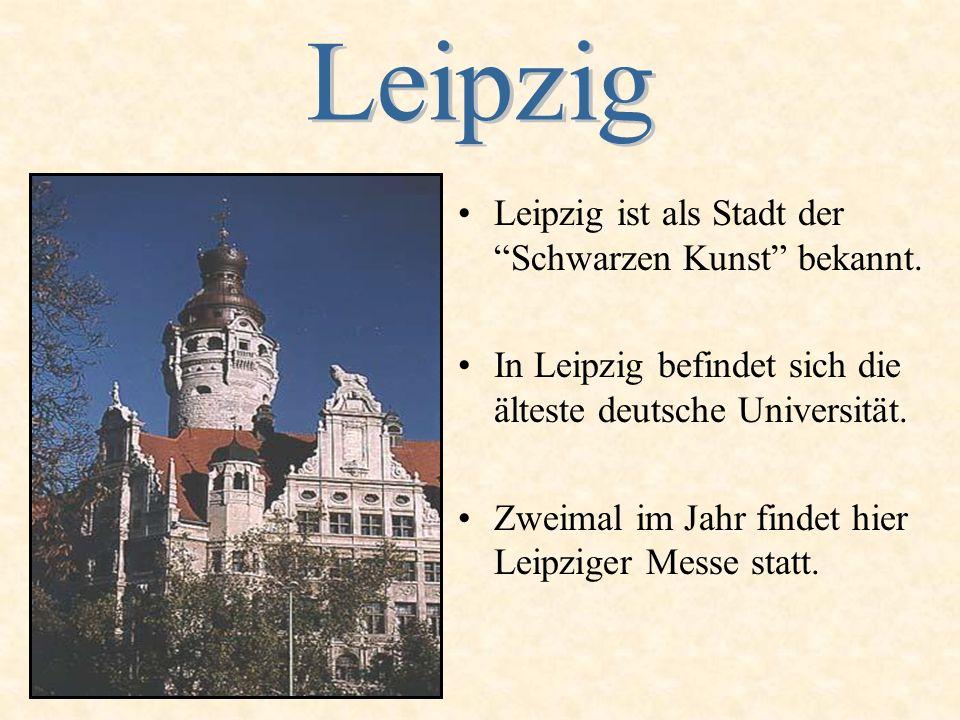 Leipzig ist als Stadt der Schwarzen Kunst bekannt.
