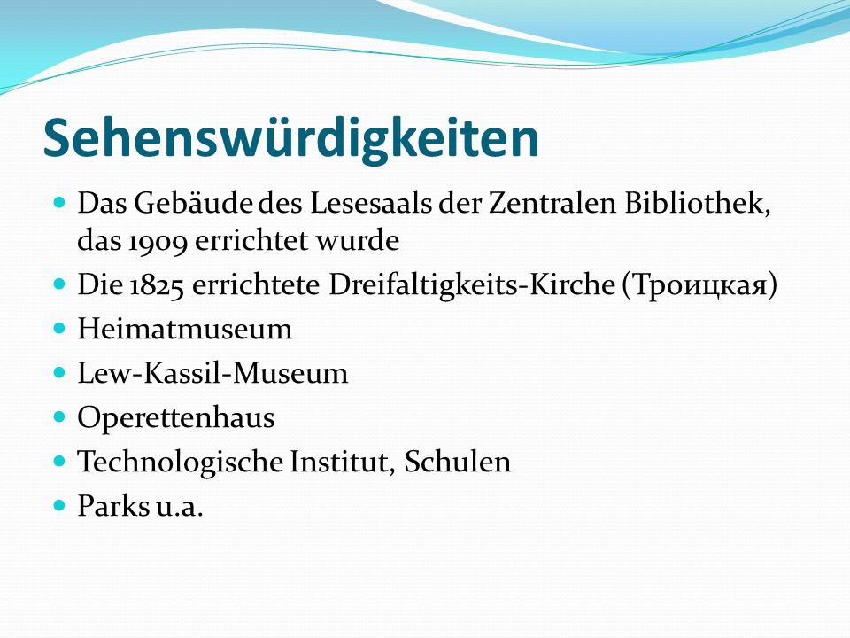 HeimatmuseumOperettenhaus Stadtsbibliothek Dreifaltigkeits-Kirche Technologisches InstitutL.