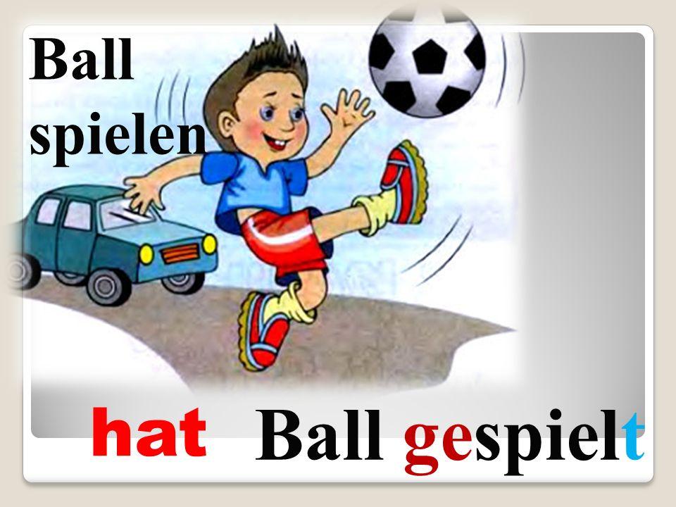 hat Ball gespielt Ball spielen