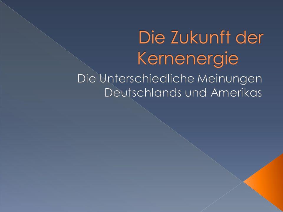 15% deutscher Stromerzeugung (22% in 2010) Kompletten Ausstieg bis 2022 8 der 17 Reaktorn schon abgeschaltet Versorgungsunternehmen verlieren Einnahmen Plannen 60 Millarden zu investieren Merkel trifft CEOs der haupt Versorgungsunternehmen im Sommer Grosse Mehrheit dagegen