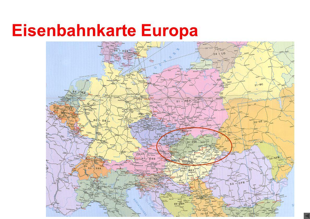 Eisenbahnkarte Europa