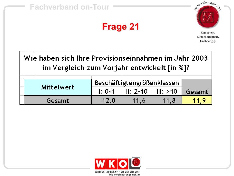 Fachverband on-Tour Frage 25+26