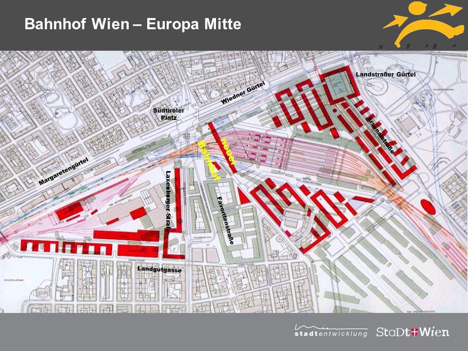 Strategieplan für Wien Vortragstitel Margaretengürtel Wiedner Gürtel Landstraßer Gürtel Arsenalstraße Laxenburger Straße Favoritenstraße Landgutgasse