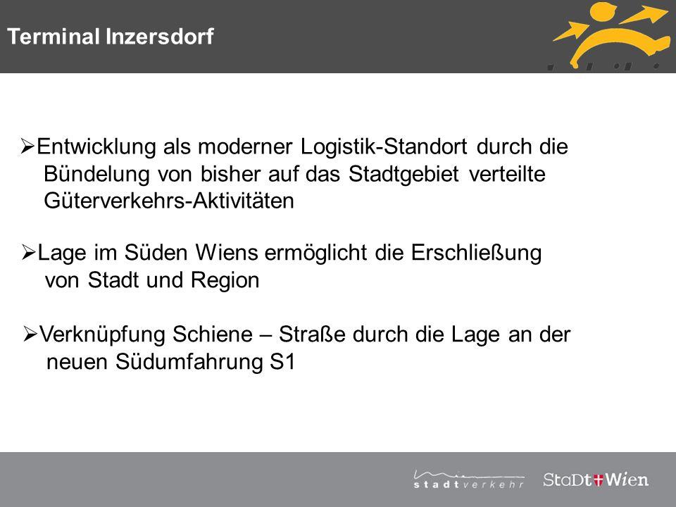 Strategieplan für Wien Vortragstitel Entwicklung als moderner Logistik-Standort durch die Bündelung von bisher auf das Stadtgebiet verteilte Güterverk