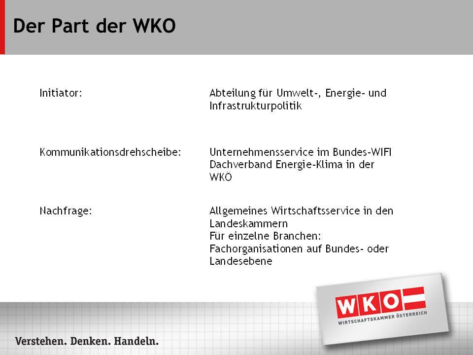 Der Part der WKO