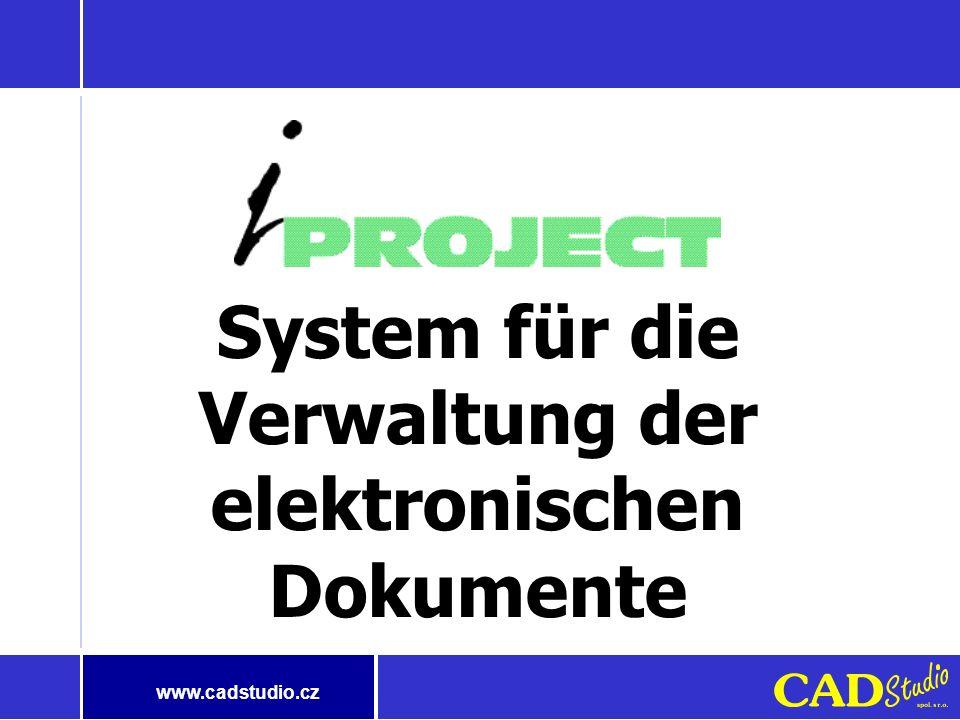www.cadstudio.cz Beispiel aus der Praxis Es hat sich an uns ein Kunde mit dem folgenden Problem gewendet: Ich kann nicht das Dokument finden, das ich