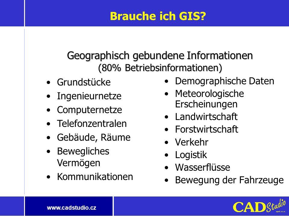 www.cadstudio.cz Lösung auf dem Gebiet von GIS/FM