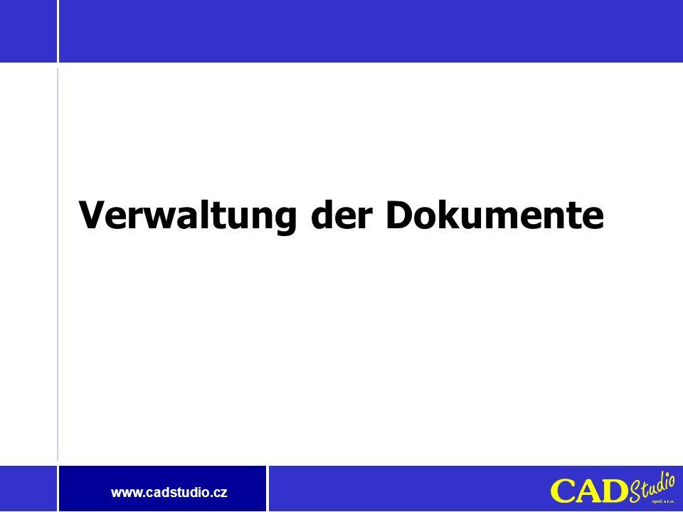 www.cadstudio.cz Jahr 2002 - CAD Studio wird erweitert Durch die Verbindung der Firmen Durch die Verbindung der Firmen CAD Studio, spol. s r.o. CAD St