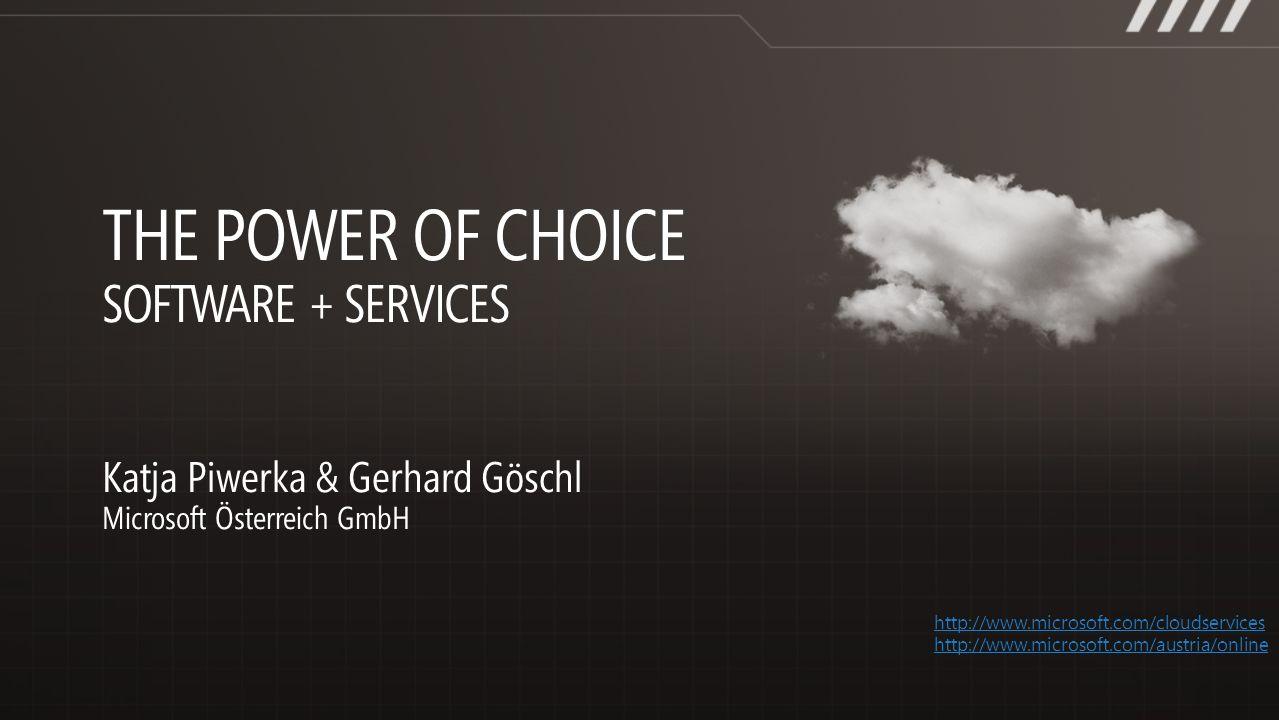 http://www.microsoft.com/cloudservices http://www.microsoft.com/austria/online