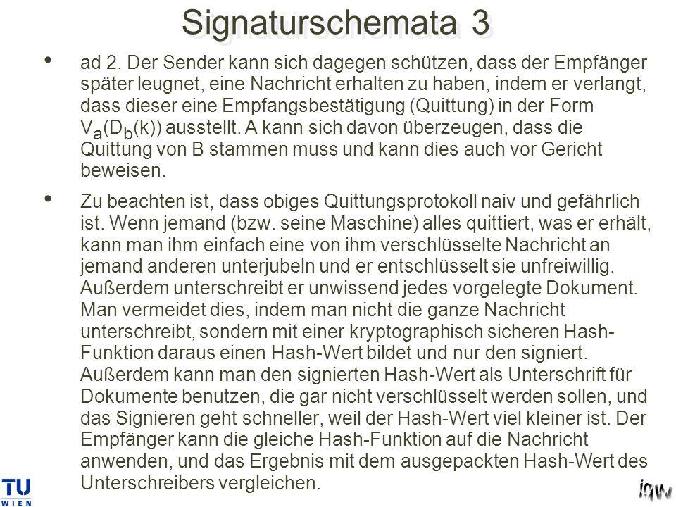 Signaturschemata 3 ad 2.