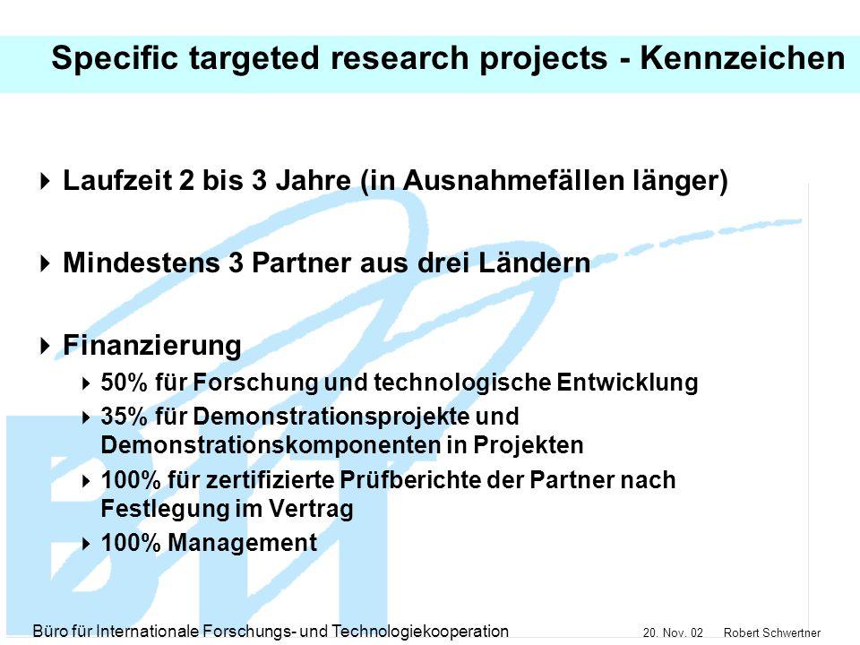 Büro für Internationale Forschungs- und Technologiekooperation 20.
