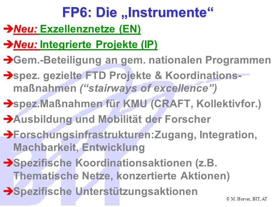 © M.Horvat, BIT, AT FP6: Die neuen Teilnahmeregeln Jede Rechtsperson in EU oder assoz.