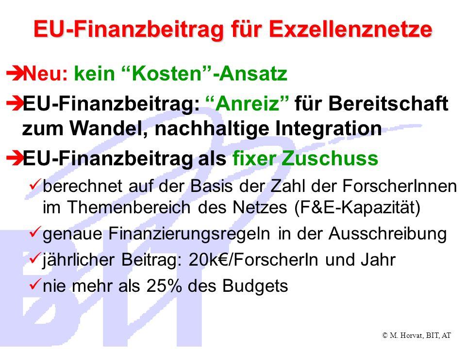 © M.Horvat, BIT, AT EU-Finanzbeiträge für Integr.