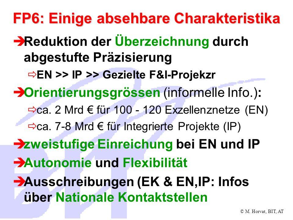 © M.Horvat, BIT, AT Exzellenznetze - Hauptziele Restrukturierung von Organisationen bzw.