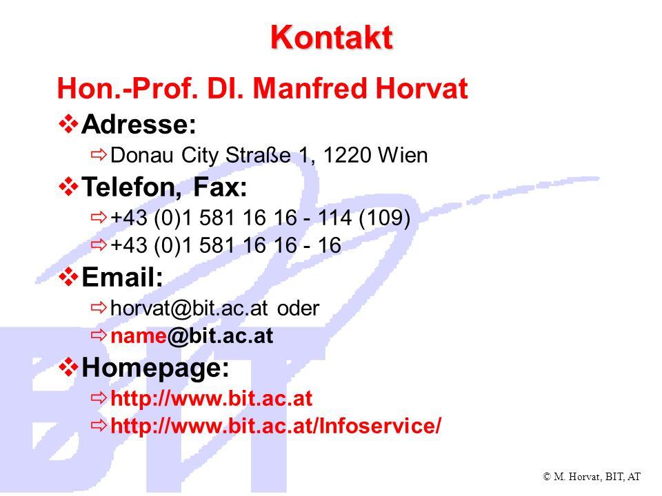 © M. Horvat, BIT, AT