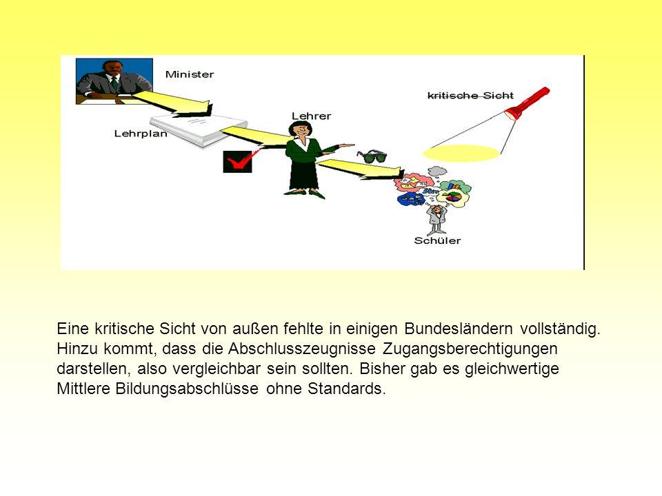 1. Warum benötigt Deutschland Bildungsstandards? Vorgeschichtliches: 1997: KMK Beschluss zur Teilnahme Deutschlands an internationalen Vergleichsstudi