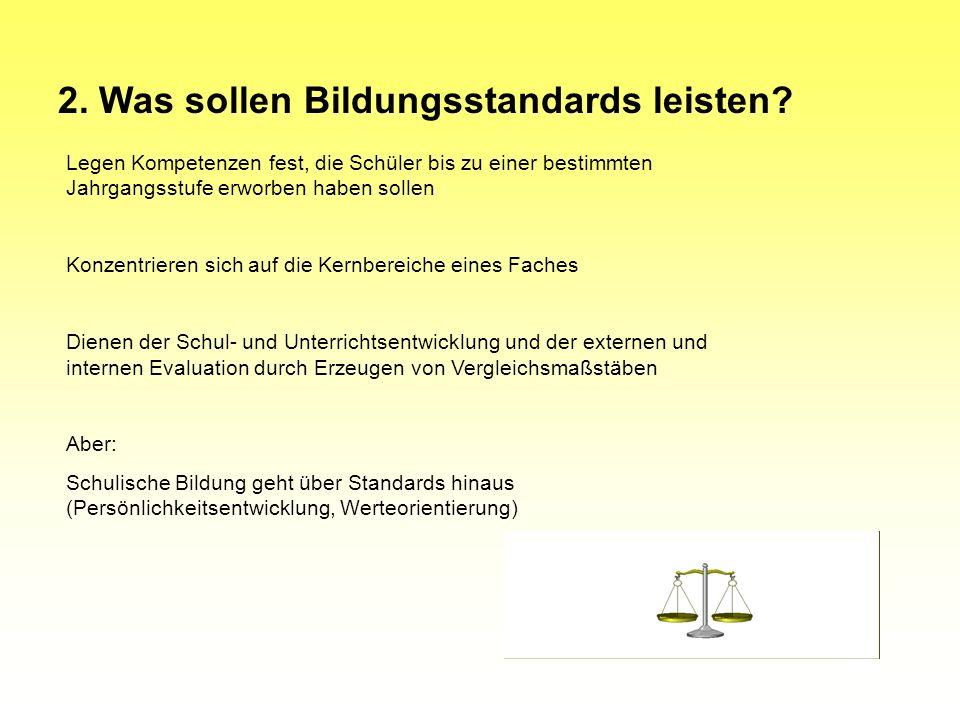 KMK-Beschluss vom 23./24.05.2002 in Eisenach: Standards für den Primarbereich nach Klasse 4 Hauptschulabschluss nach Klasse 9 Mittleren Schulabschluss