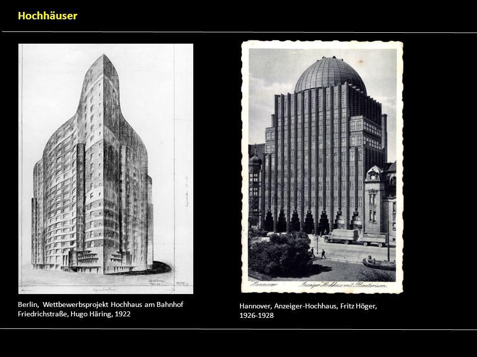 Hamburg, Chilehaus, Fritz Höger, 1922-1924 Potsdam, Einsteinturm, Erich Mendelsohn, 1919-1922 Bauten für Industrie & Wissenschaft