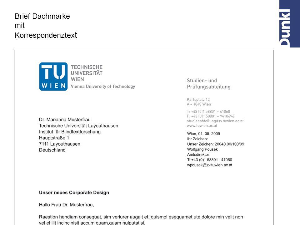 Brief Dachmarke mit Korrespondenztex t