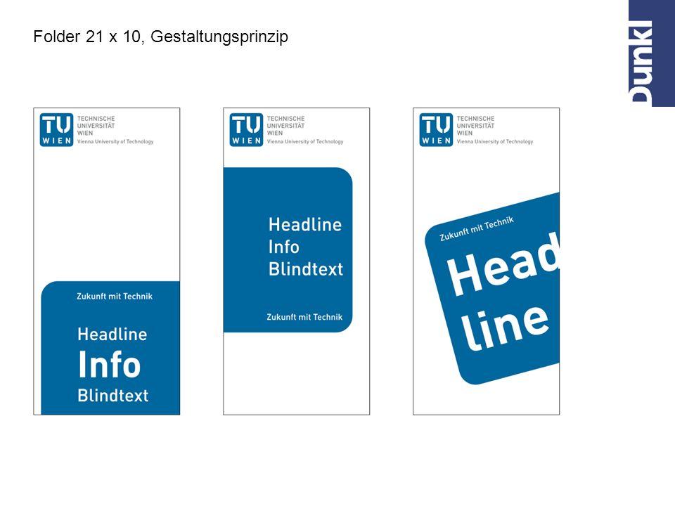 Folder 21 x 10, Gestaltungsprinzip