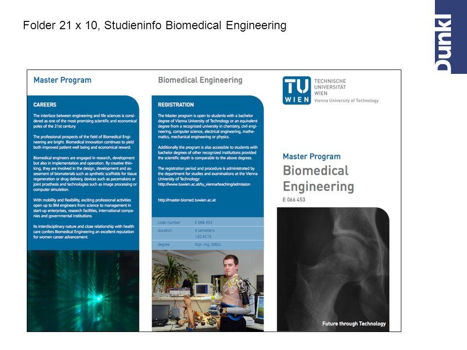 Folder 21 x 10, Studieninfo Biomedical Engineering