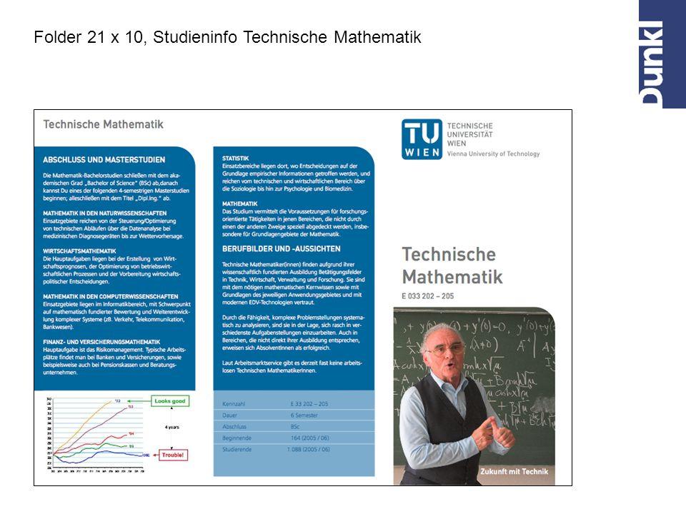 Folder 21 x 10, Studieninfo Technische Mathematik