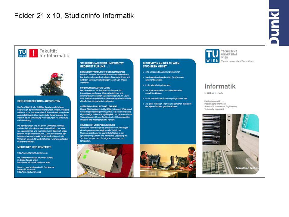 Folder 21 x 10, Studieninfo Informatik