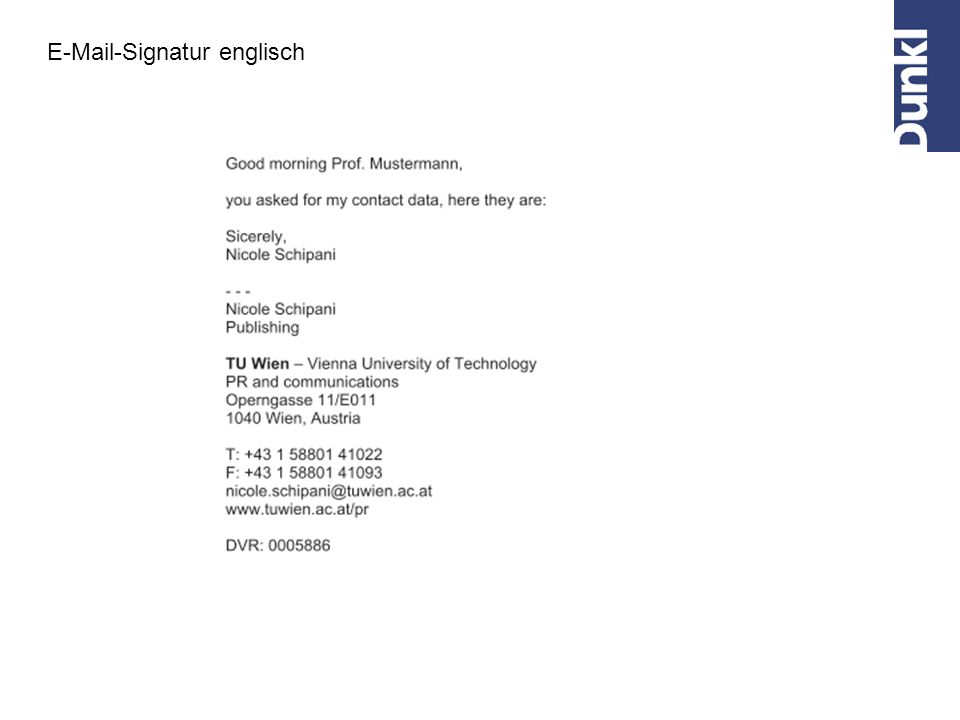 E-Mail-Signatur englisch