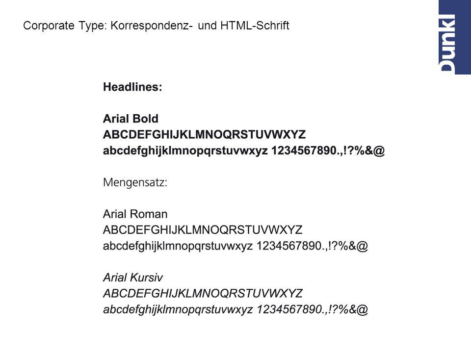 Corporate Type: Korrespondenz- und HTML-Schrift