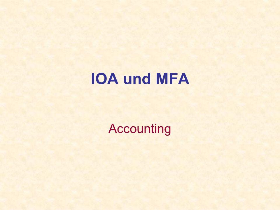 IOA und MFA Accounting