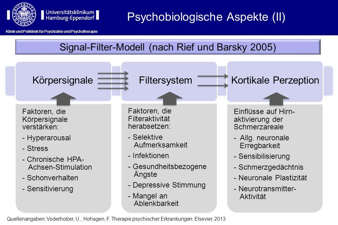Klinik und Poliklinik für Psychiatrie und Psychotherapie Faktoren, die Körpersignale verstärken: - Hyperarousal - Stress - Chronische HPA- Achsen-Stim