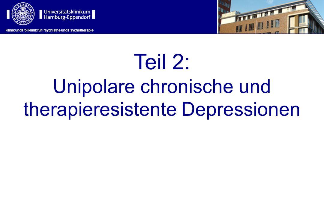 Teil 2: Unipolare chronische und therapieresistente Depressionen