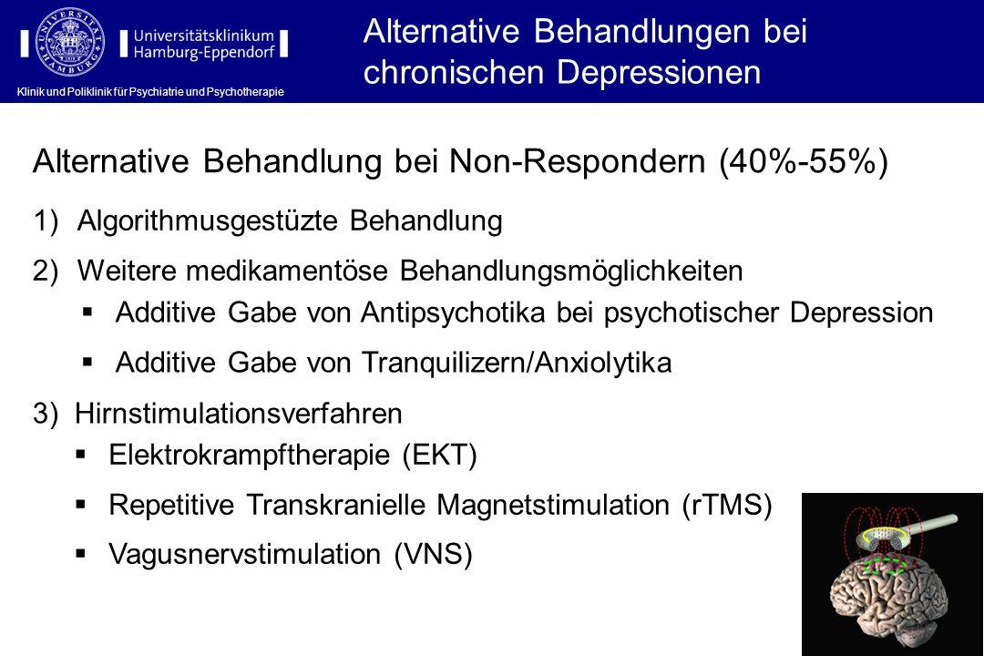 Klinik und Poliklinik für Psychiatrie und Psychotherapie Alternative Behandlungen bei chronischen Depressionen Alternative Behandlung bei Non-Responde