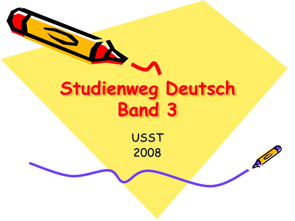 Studienweg Deutsch Band 3 USST2008