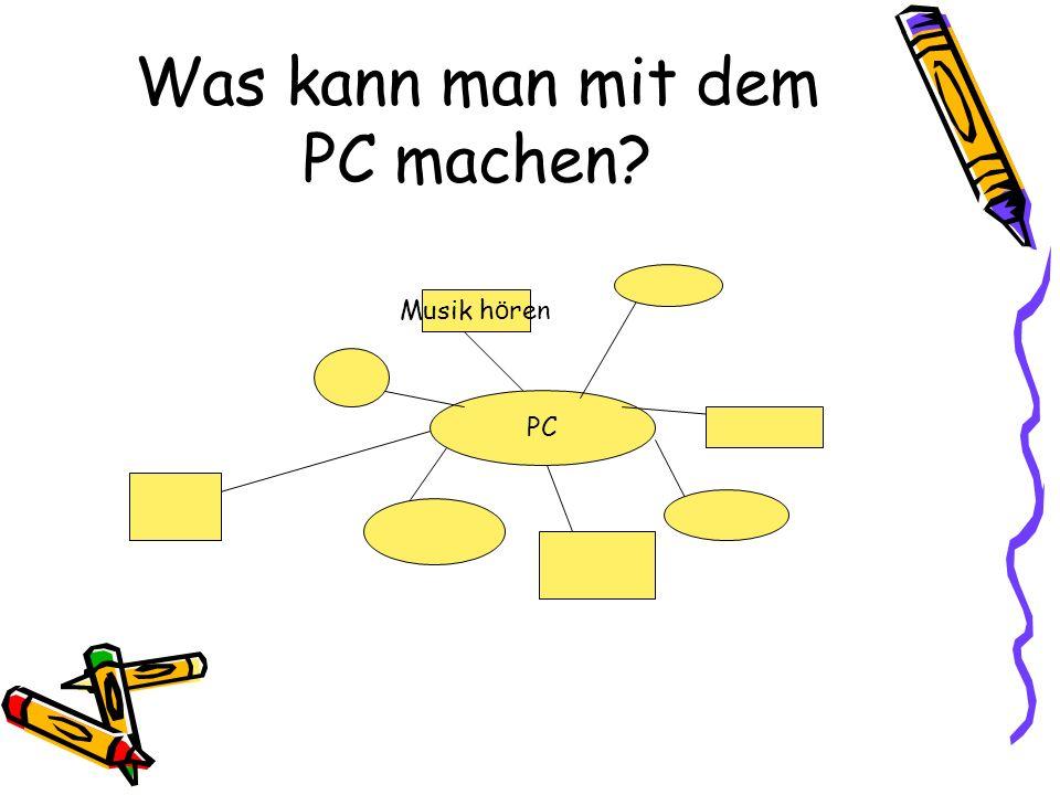 Was kann man mit dem PC machen? PC Musik h ö ren