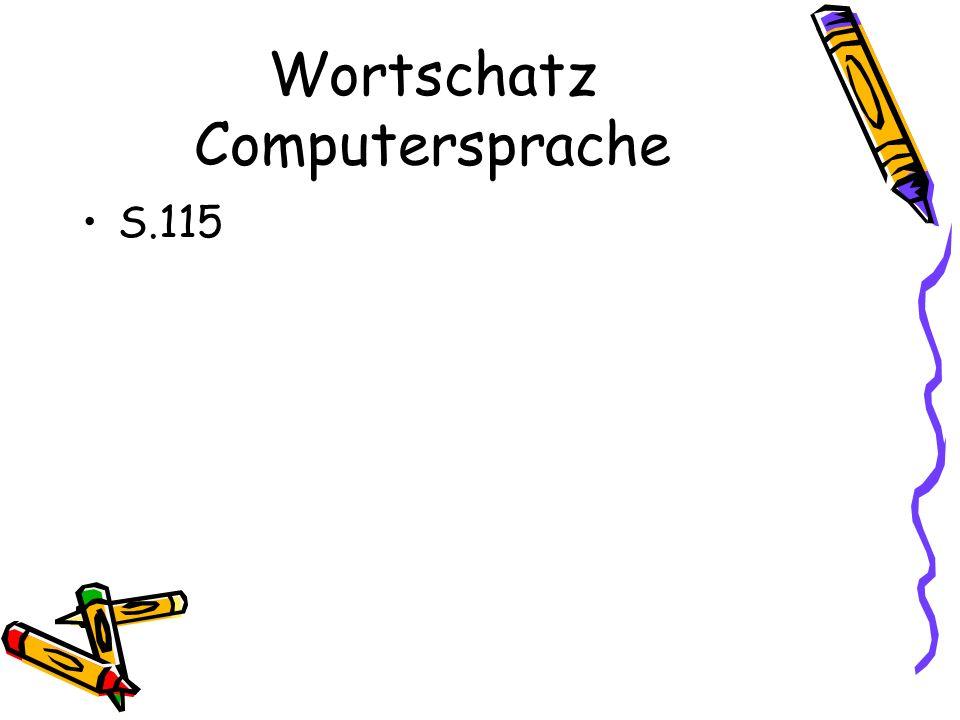 Wortschatz Computersprache S.115