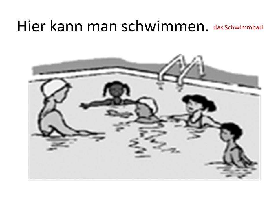 Hier kann man schwimmen. das Schwimmbad