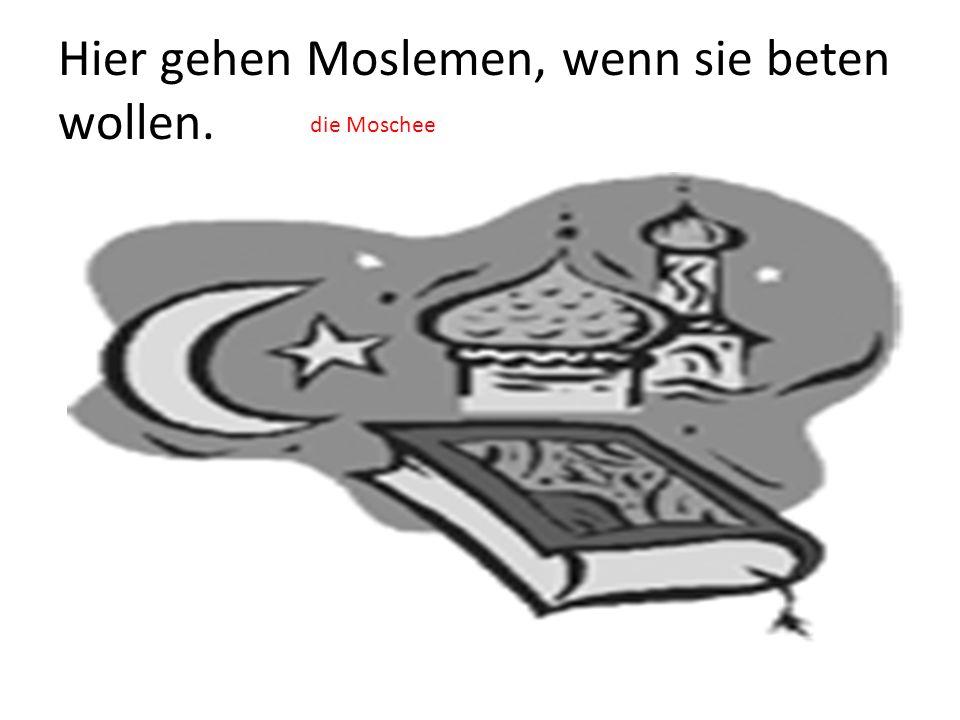 Hier gehen Moslemen, wenn sie beten wollen. die Moschee