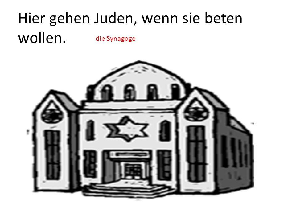 Hier gehen Juden, wenn sie beten wollen. die Synagoge