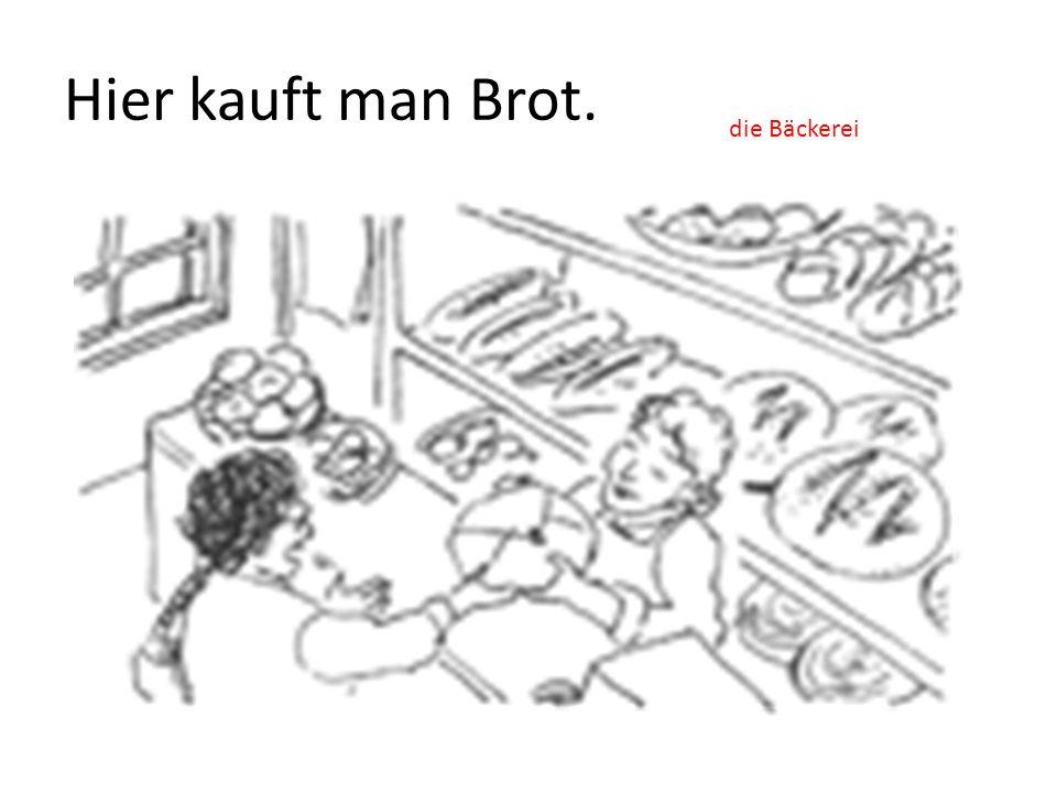 Hier kauft man Fleisch. die Metzgerei / Fleischerei