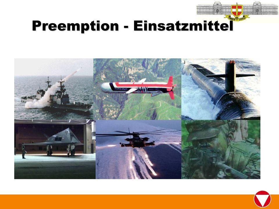 Preemption - Einsatzmittel